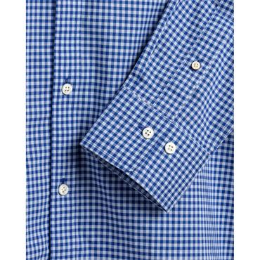 Gant Broadcloth 2 Col Gingham Shirt - College Blue