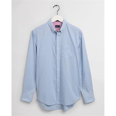Gant BC Micro Check Contrast Button Shir - Capri Blue