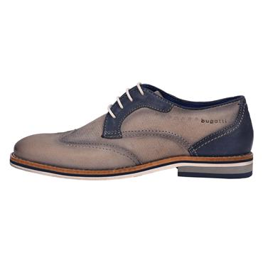 Brogues, Navy & Silver Grey - Bugatti