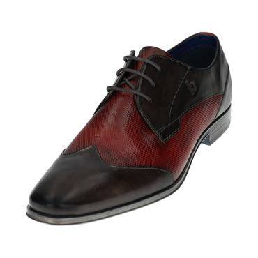 Bugatti Formal Shoe - Dark Grey/dark Red Mix