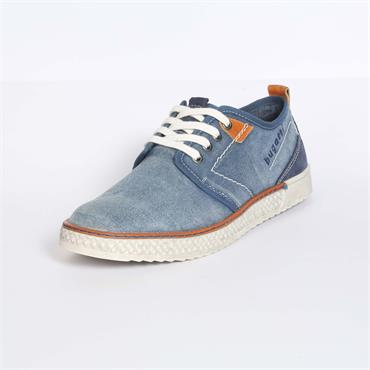 Washed Denim Trainer, Light Blue - Bugatti