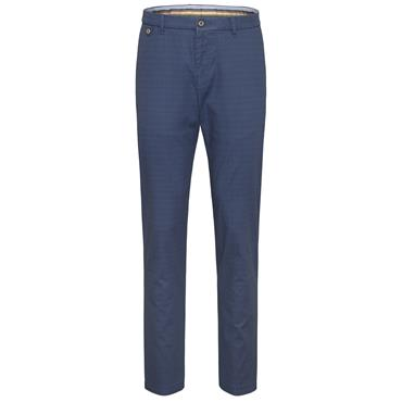 Bugatti Soft Check Chinos - Royal