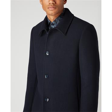 Remus Rowan Overcoat - Navy