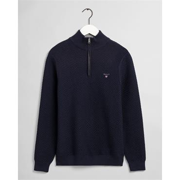 Gant Triangle 1/2 Zip - Evening Blue