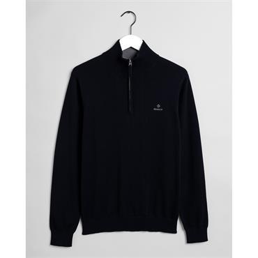 Gant Cotton Half Zip - 433 Evening Blue