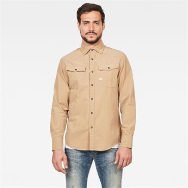 3301 Slim Shirt L/s - Sahara