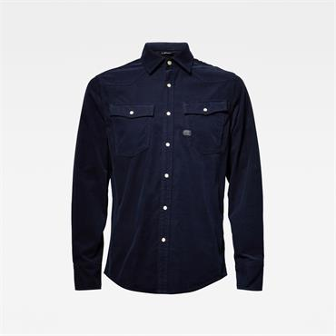 3301 Slim Shirt L/s - Sartho Blue