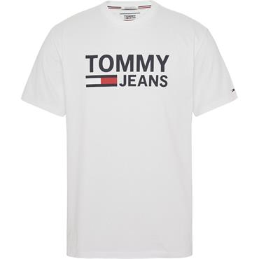 Classic Brand Logo T-Shirt Grey - Tommy Jeans