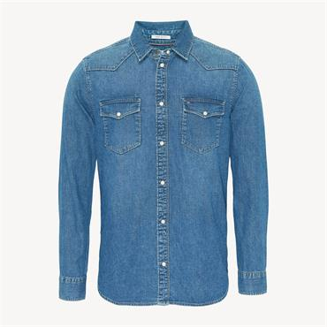Western Denim Shirt - Mission Mid Blue