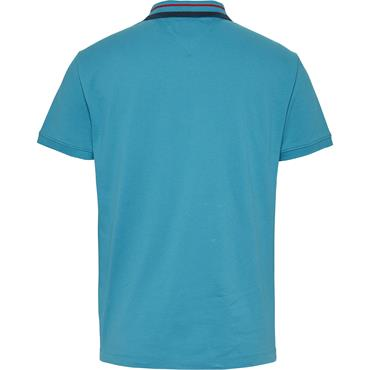 TOMMY JEANS TIPPED POLO - Teal