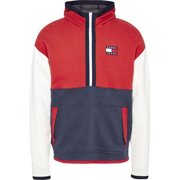 Tommy Jeans Colour Block Hoody - Deep Crimson