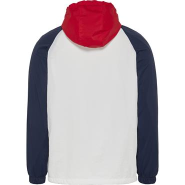 Tommy Jeans Colour Block Zip Hoody - White