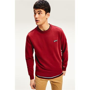 Tommy Jeans Washed Corp Logo Sweat - Wine