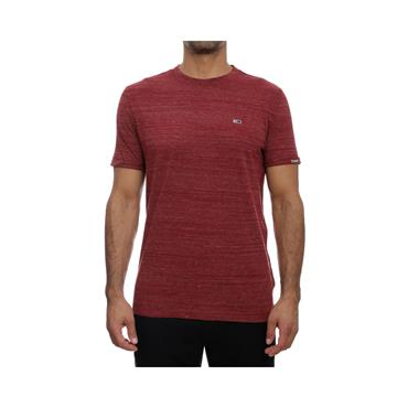 Tommy Jeans Branded Sleeve Heather T - Wine Red Heather