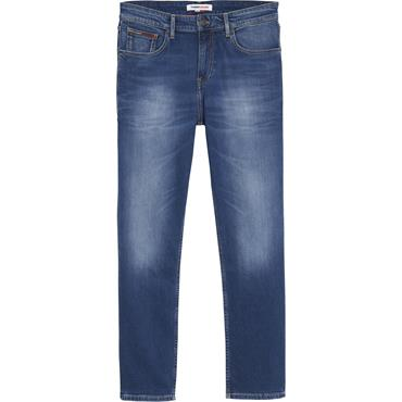 Tommy Jeans RYAN RLXD STRGHT - WILSON MID BLUE STRETCH
