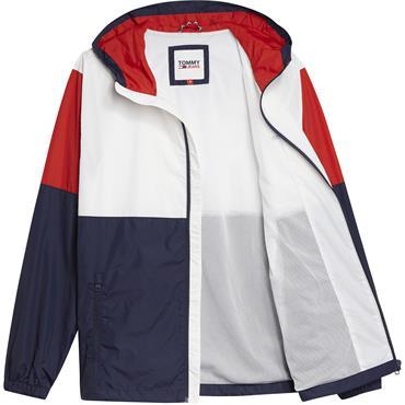 Tommy Jeans Colourblock Jacket - White