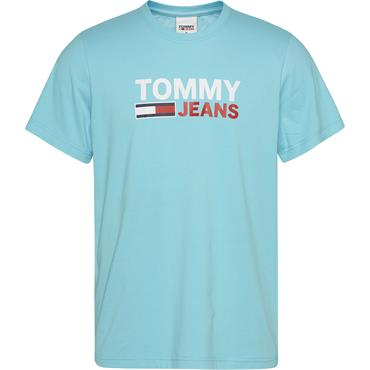 Tommy Jeans Corp Logo T - Turquoise
