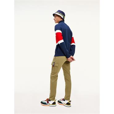 Tommy Jeans Colourblock Mock - Twilight Navy