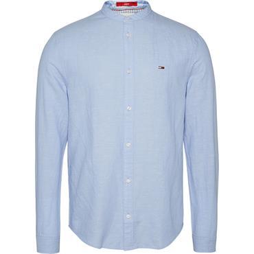 Tommy Jeans Mao Linen Mix Shirt - Blue