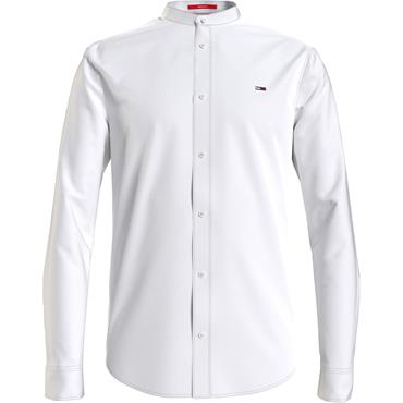 Tommy Jeans Mao Linen Mix Shirt - White