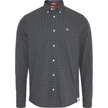 Tommy Jeans Gingham Shirt - Dark Olive