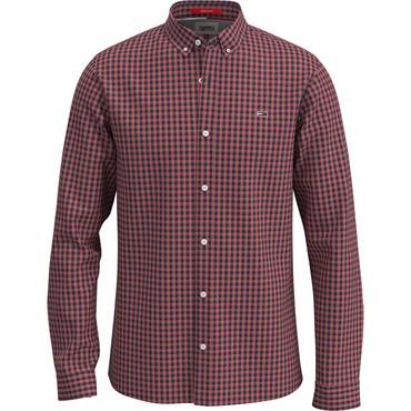 Tommy Jeans Gingham Shirt - DEEP CRISMON