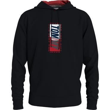 Tommy Jeans Essential Back Print Hood - Black