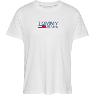 Tommy Jeans Womens Reg Metallic Cor T - White
