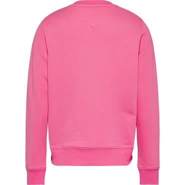 Tommy Jeans Womens Slim Terry Logo Sweat - Botanical Pink