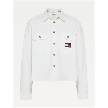 TJ WOmens Cropped  Utility Jacket - White