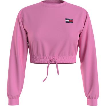 TJ Womens Super Cropped Sweat - Pink