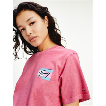 TJ Womens Painted T - Pink