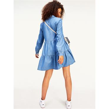 TJ Womens Chambray Shirt Dress - BAIRO BLUE
