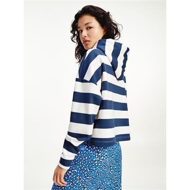 TJ Womens Stripe Hood - Twilight Navy