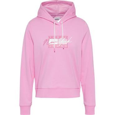TJ Womens Cropped Hood - Pink