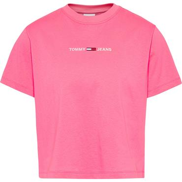 TJ Womens Cropped Linear T - Botanical Pink