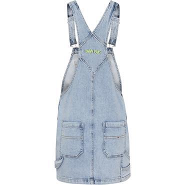 TJ Womens Cargo Dungaree Dress - Denim
