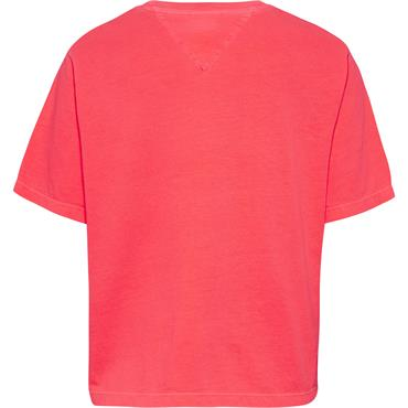 TJ Womens Crop Tape T - Pink
