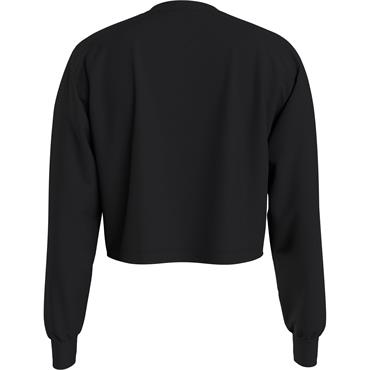 Tommy Jeans Womens L/S BXY CROP HOMESPUN - Black