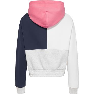 Tommy Jeans Womens Colour Block Hoodie - Grey