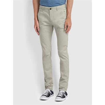 Farah DRAKE CHINO TWILL - White Smoke