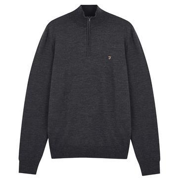 Farah Merino Wool 1/4 Zip - Charcoal