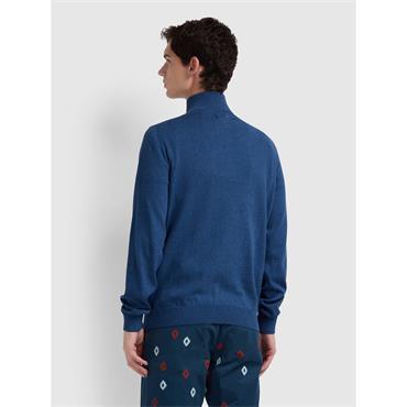 Redchurch 1/2 Zip Sweat - Dusky Blue