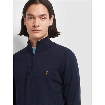 Farah 1/4 Zip Knit - Navy