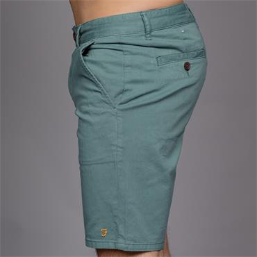 Hawk Garment Dyed Shorts, Green Biscuit - Farah