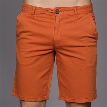 Hawk Garment Dyed Shorts, Goldfish - Farah