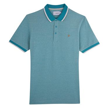 Besel Pique Ss Polo - Turquoise Green
