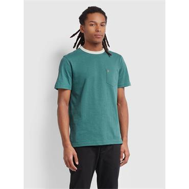 Farah Groves Pocket Tee Shirt - Bottle Green