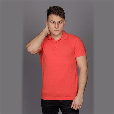 Blaney Ss Polo - Red Coat Marl