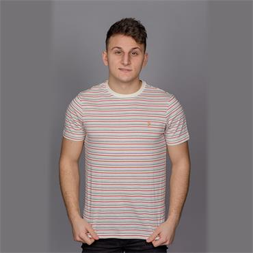 Fawkes Short Sleeve T-Shirt, Ecru - Farah